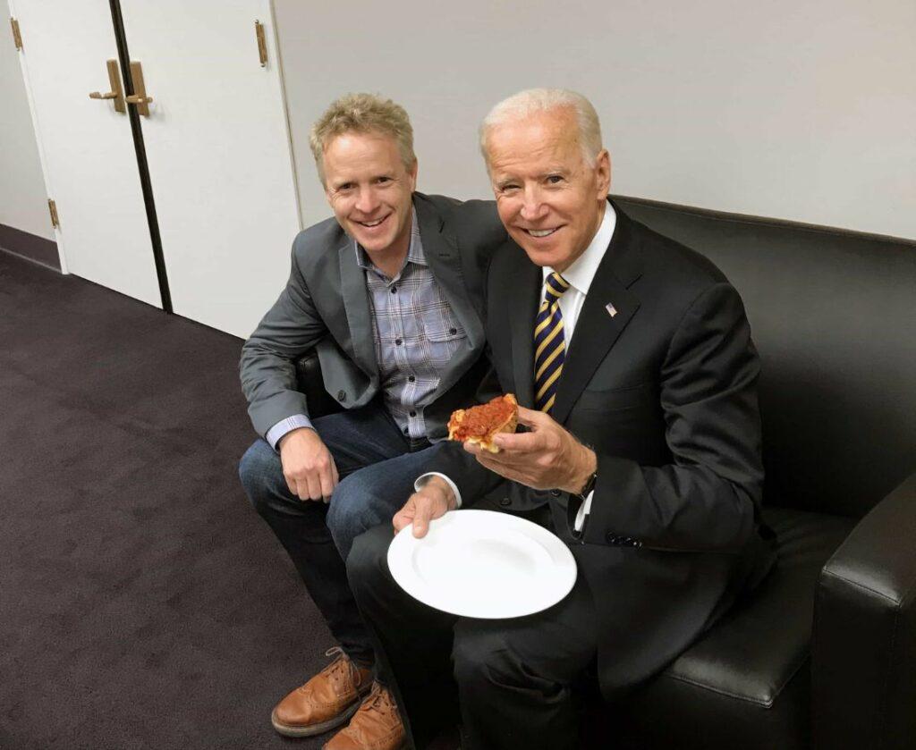 Chris Accrue and Joe Biden